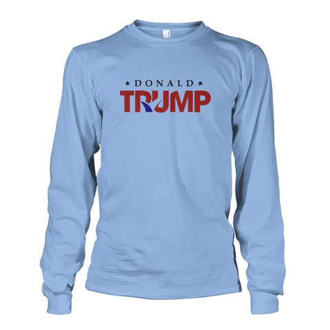 Image of Donald Trump Long Sleeve - Light Blue / S - Long Sleeves