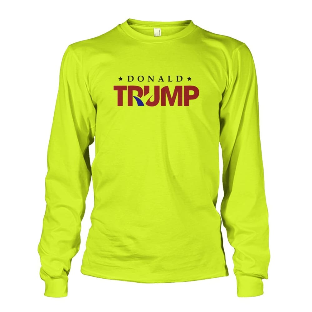 Donald Trump Long Sleeve - Safety Green / S - Long Sleeves