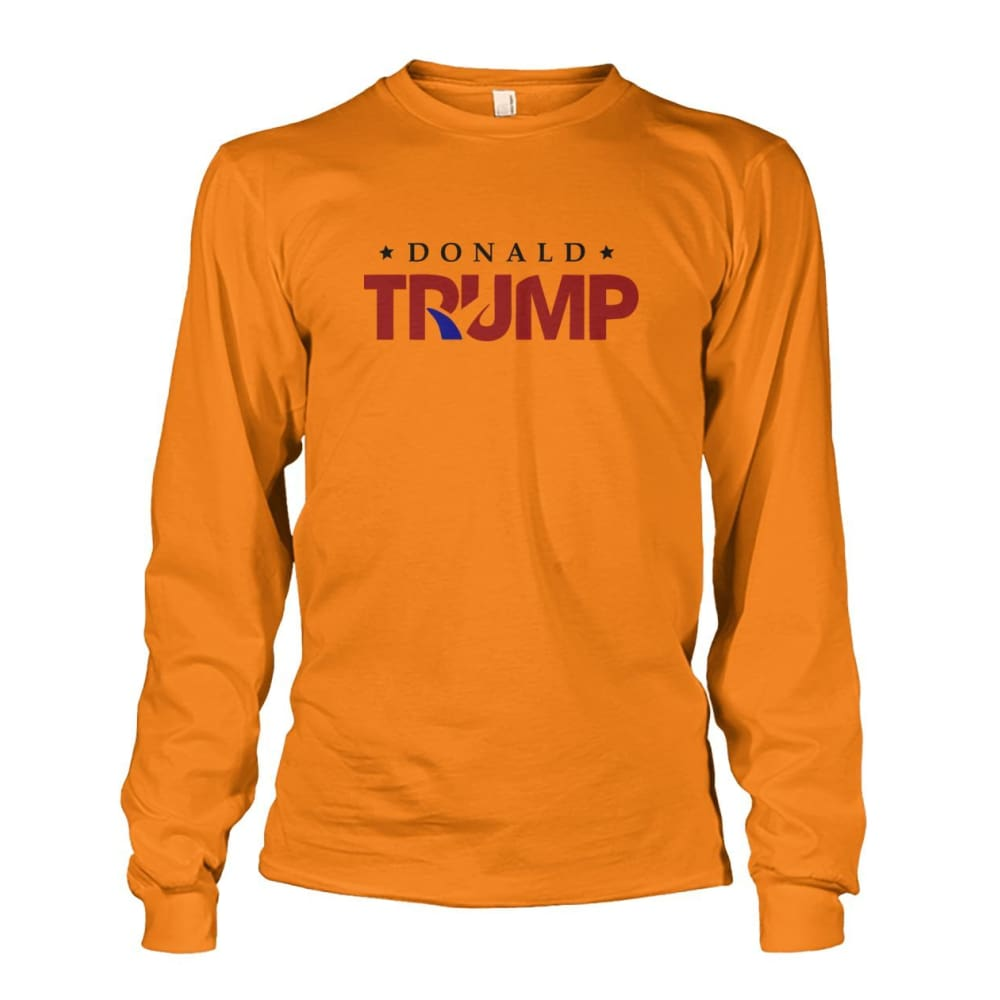 Donald Trump Long Sleeve - Safety Orange / S - Long Sleeves