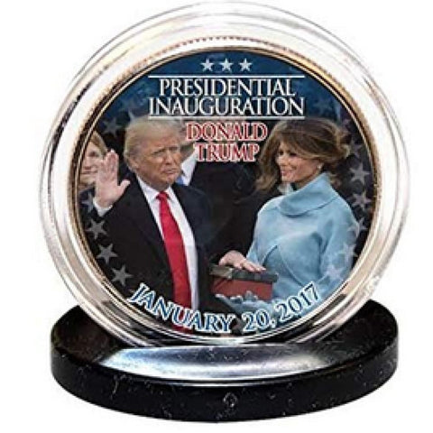 Image of Donald Trump & Melania Trump Inauguration LEGAL TENDER Half Dollar Coins with C.O.A. (2-Piece Set)