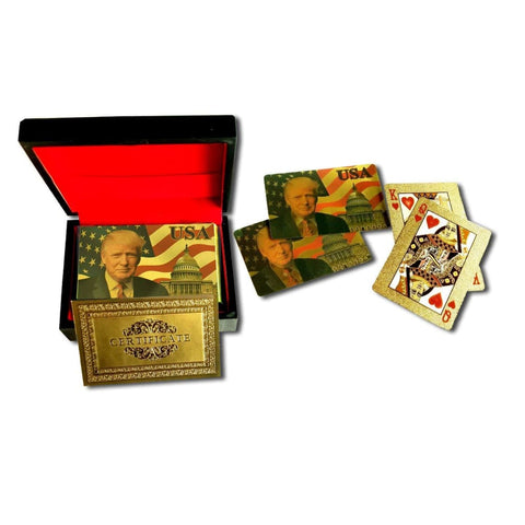 Image of Donald Trump Playing Cards - 24K Gold-Plated Commemorative Collectors Edition - Games and Gifts