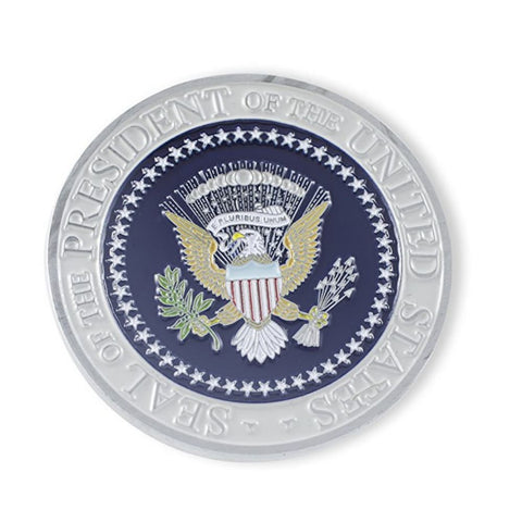 Image of Donald Trump Presidential Seal Commemorative Challenge Coin (Silver Toned) - Coin