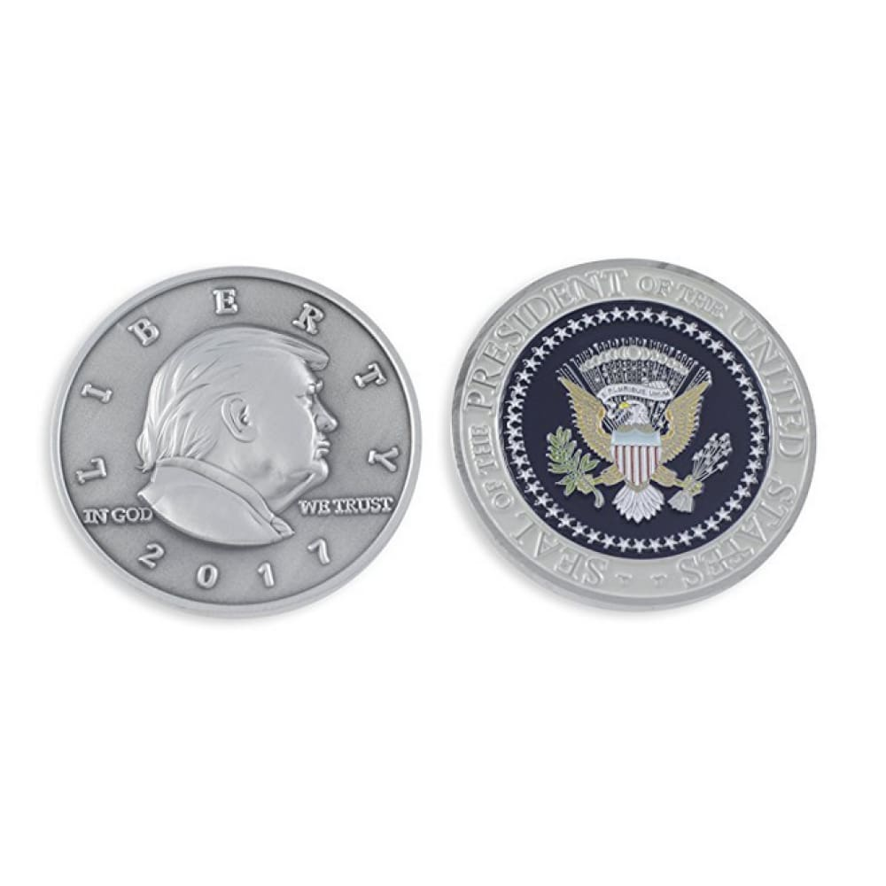 Donald Trump Presidential Seal Commemorative Challenge Coin (Silver Toned) - Coin