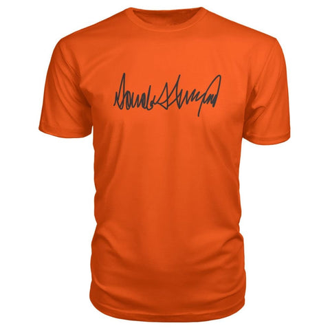 Image of Donald Trump Signature Premium Tee - Orange / S / Premium Unisex Tee - Short Sleeves