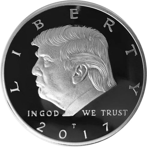 Donald Trump Silver Plated Coin (2017) with Certificate of Authenticity