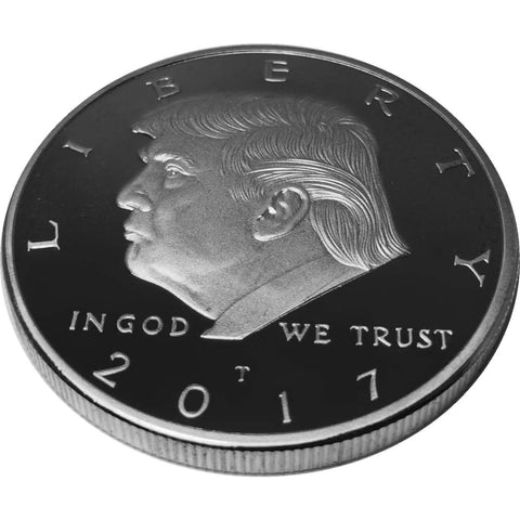 Image of Donald Trump Silver Plated Coin (2017) with Certificate of Authenticity