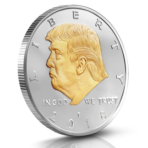 Image of Donald Trump Two Tone Gold on Silver Plated 2018 Commemorative Collectors Edition Coin - Coin