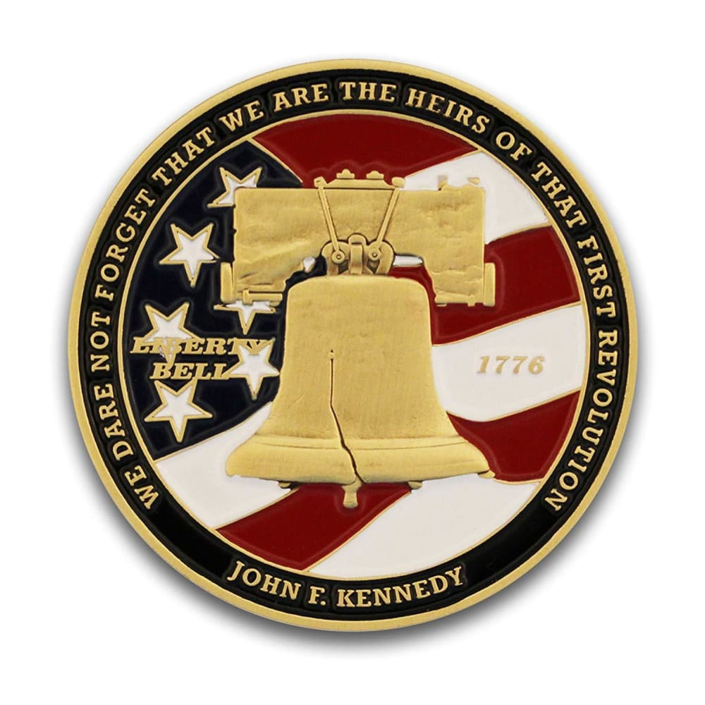 Dont Tread on Me Coin - Colored Enamel