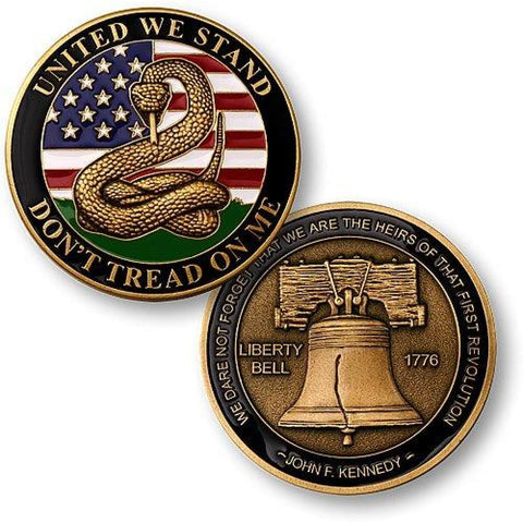 Dont Tread on Me - Liberty Bell Challenge Coin