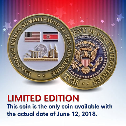 EXCLUSIVE 2018 Trump / Kim Summit Coin