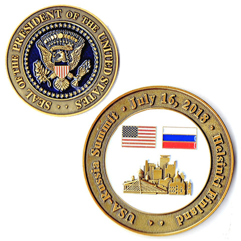 Image of EXCLUSIVE 2018 Trump / Putin Summit Coin (With Actual Date!)