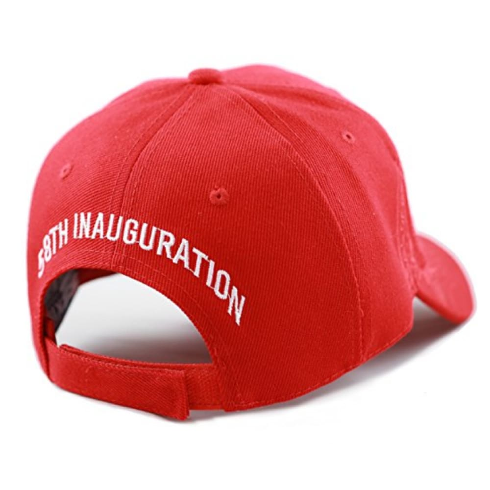 Exclusive 45th Presidential 58th Inauguration Signature (Red) - Headwear