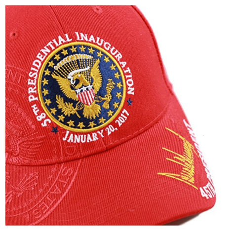 Image of Exclusive 45th Presidential 58th Inauguration Signature (Red) - Headwear