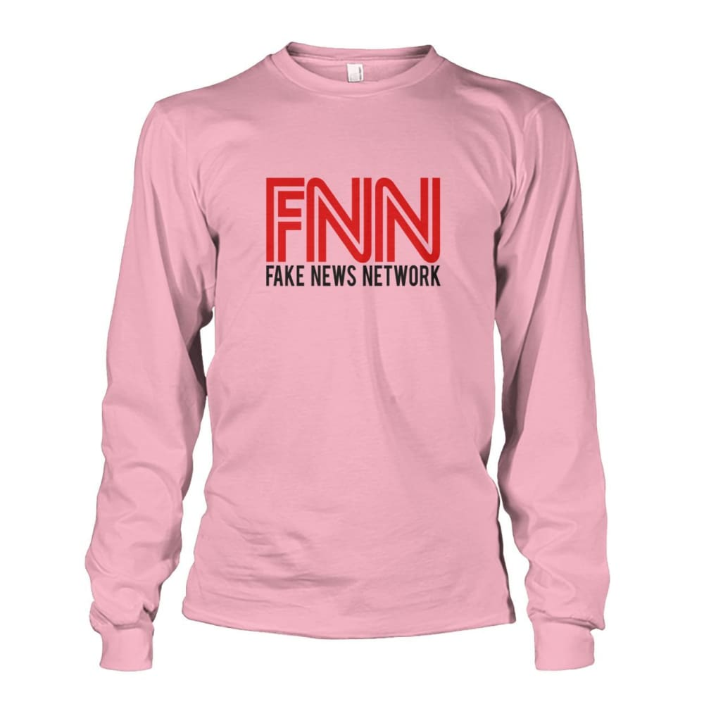 Fake News Network Long Sleeve - Light Pink / S - Long Sleeves