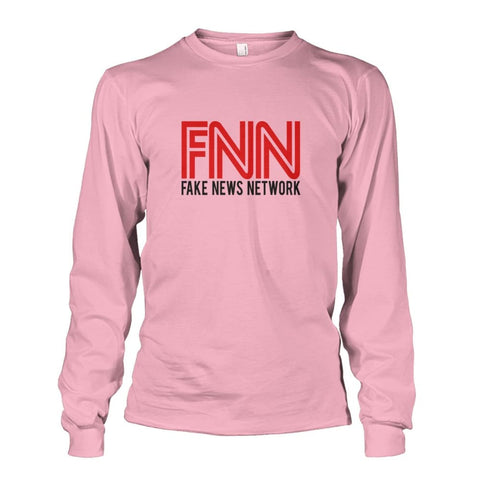 Image of Fake News Network Long Sleeve - Light Pink / S - Long Sleeves