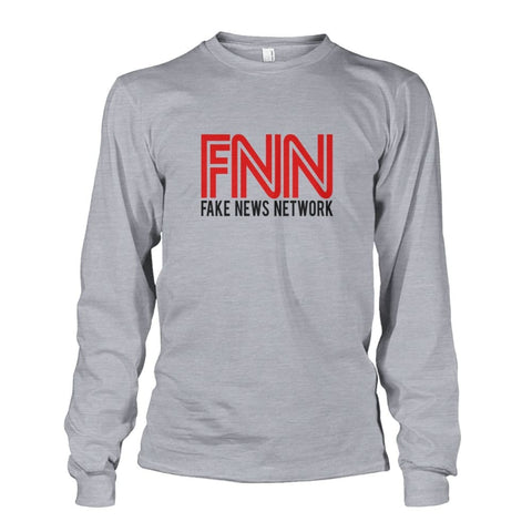 Image of Fake News Network Long Sleeve - Sports Grey / S - Long Sleeves