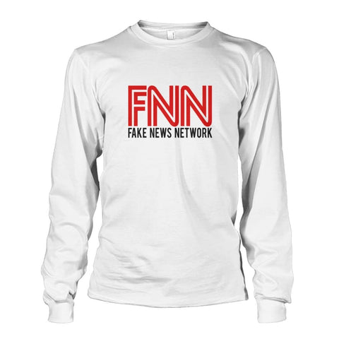 Image of Fake News Network Long Sleeve - White / S - Long Sleeves