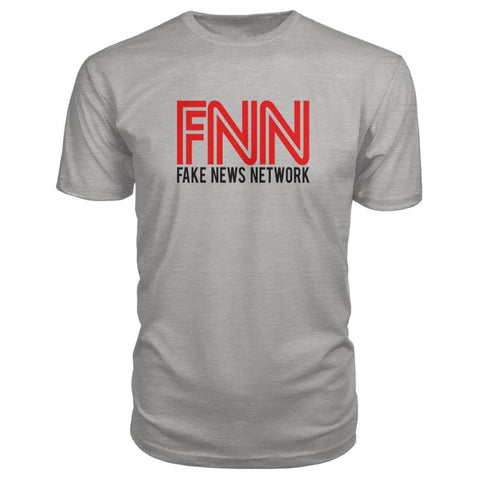 Image of Fake News Network Premium Tee - Heather Grey / S - Short Sleeves