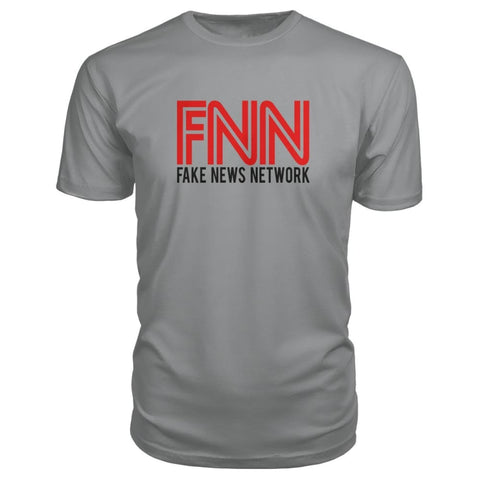 Image of Fake News Network Premium Tee - Storm Grey / S - Short Sleeves