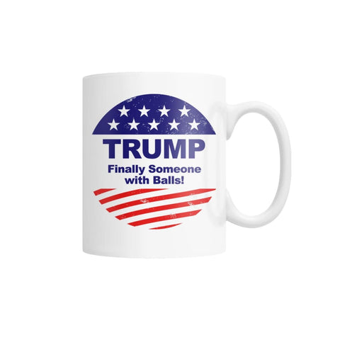 Image of Finally Someone With Balls Coffee Mug (White)