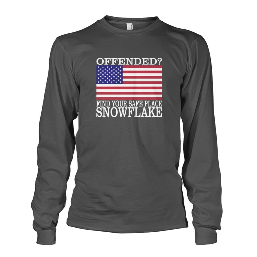 Find Your Safe Place Snowflake Long Sleeve - Charcoal / S - Long Sleeves