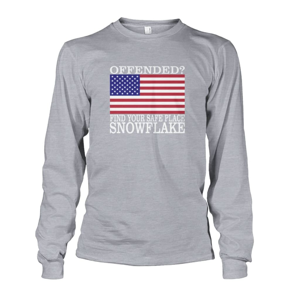 Find Your Safe Place Snowflake Long Sleeve - Sports Grey / S - Long Sleeves