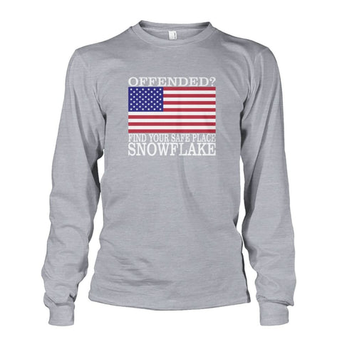 Image of Find Your Safe Place Snowflake Long Sleeve - Sports Grey / S - Long Sleeves