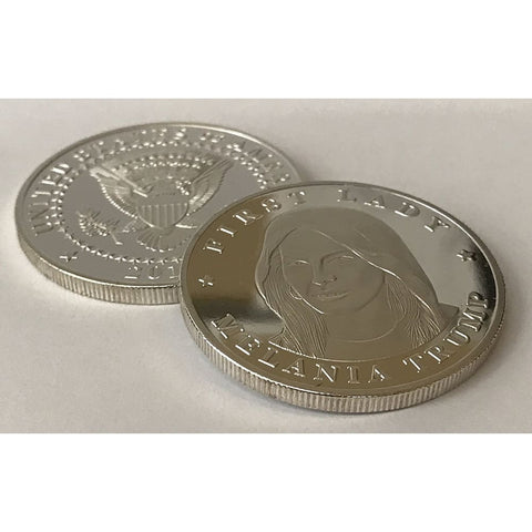 First Lady Melania Trump Silver Plated Eagle Commemorative Coin