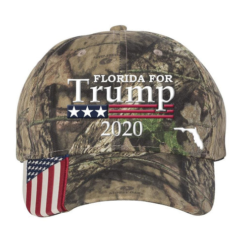 Florida For Trump 2020 Hat - Mossy Oak Country