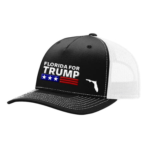 Florida For Trump - Black & White - Hats