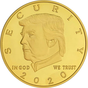 FREE - Donald Trump Border Wall 2020 Coin -- In Capsule And Velvet Bag! - Coin