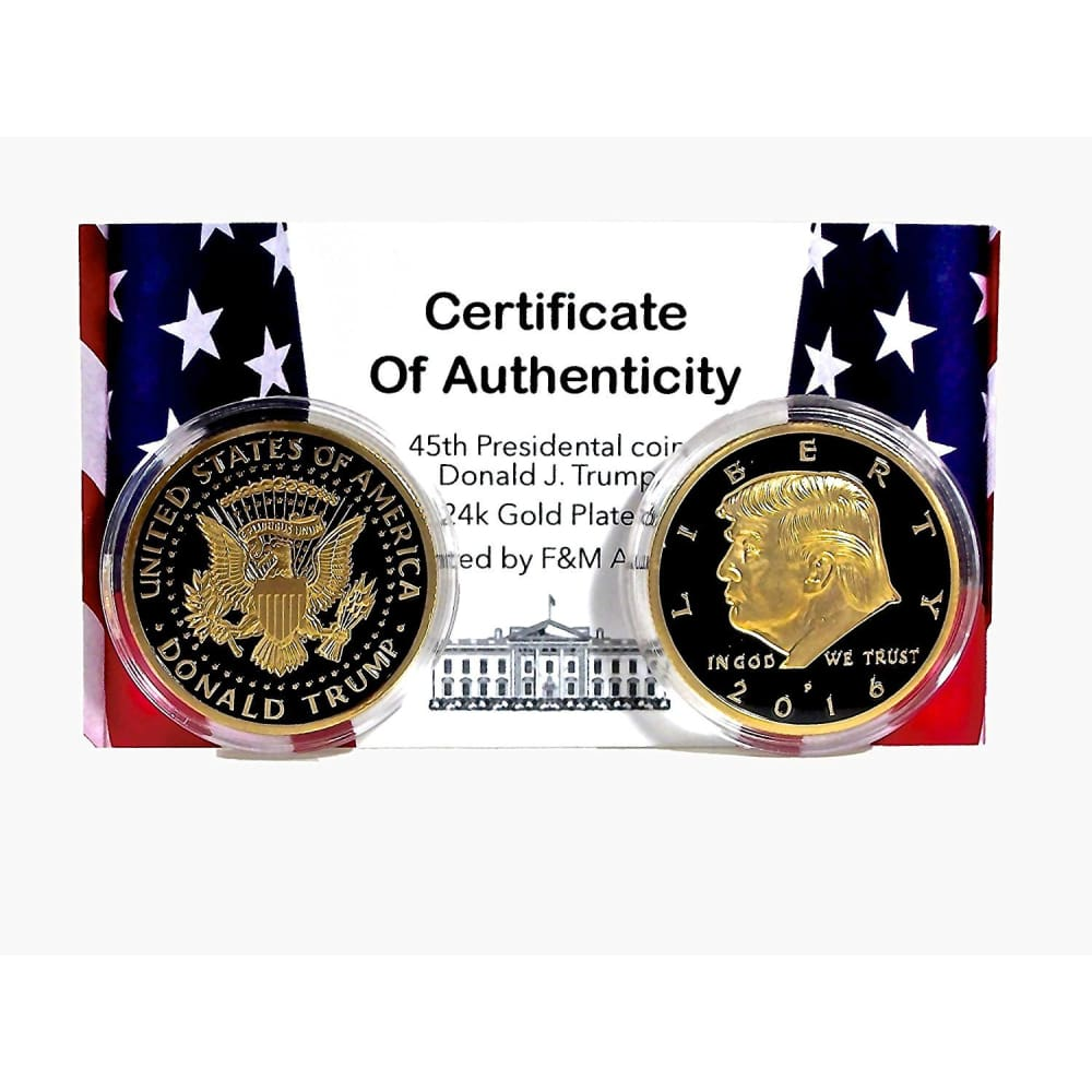 Going Out Of Stock! Black & Gold Trump Coin (2016)