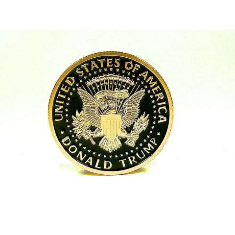 Image of Going Out Of Stock! Black & Gold Trump Coin (2016)