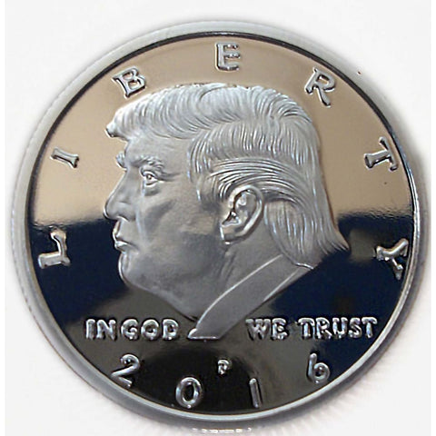 Image of Going Out Of Stock! Silver Plated Trump Coin (2016) - Coin