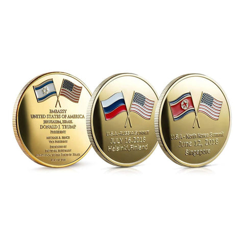 Image of Great Moments Of Trump 2018 - Pack Of 3 Unique Coins - Coin
