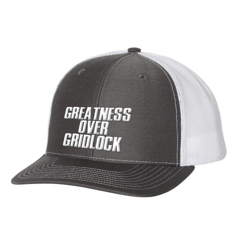 Image of Greatness Over Gridlock *MADE IN THE USA* Hat (Multiple Colors) - Charcoal & White