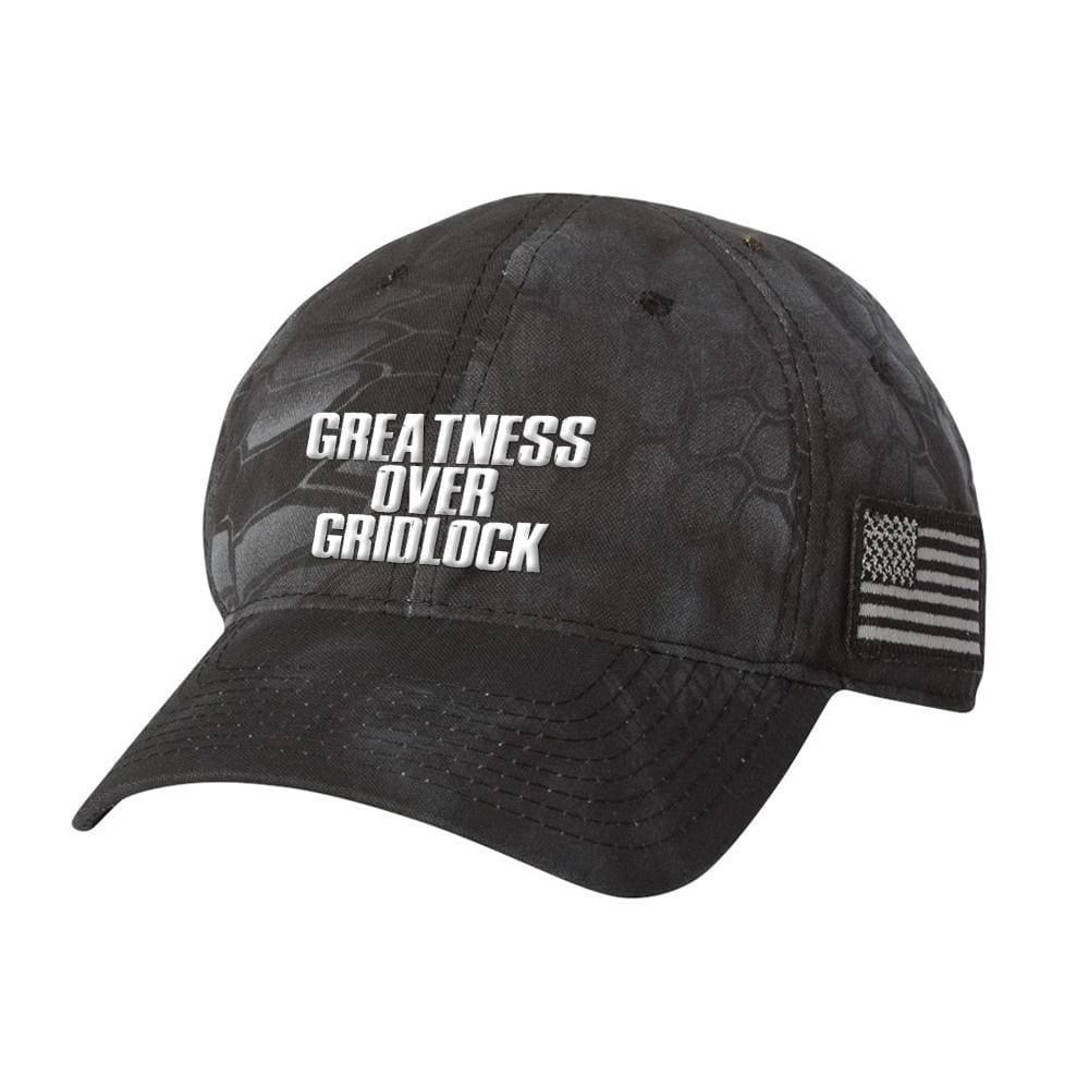 Greatness Over Gridlock With American Flag Patch *MADE IN THE USA* Hat - Typhoon
