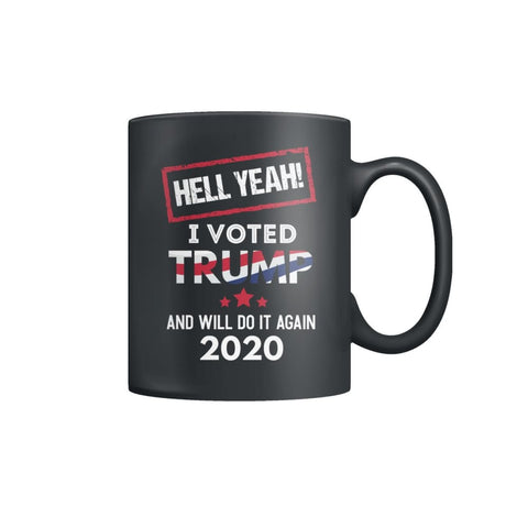 Image of Hell Yeah I Voted For Trump Coffee Mugs - Black / M / Color Coffee Mug