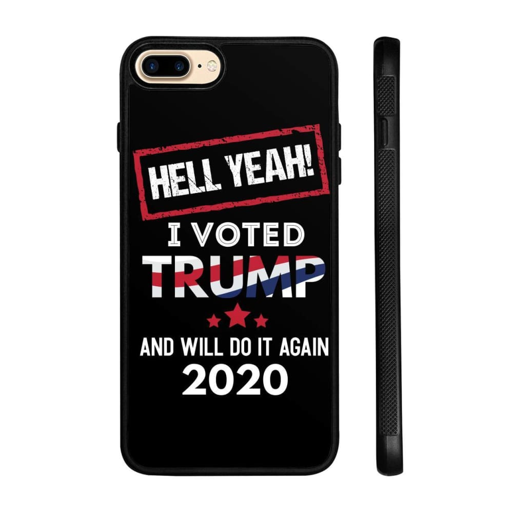 Hell Yeah I Voted For Trump Phone Cases - Black / M / iPhone 8+ Case