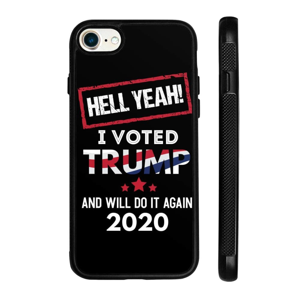 Hell Yeah I Voted For Trump Phone Cases - Black / M / iPhone 8 Case