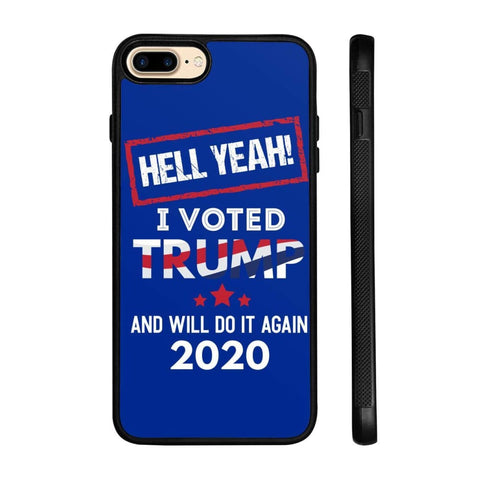 Image of Hell Yeah I Voted For Trump Phone Cases - Royal / M / iPhone 8+ Case