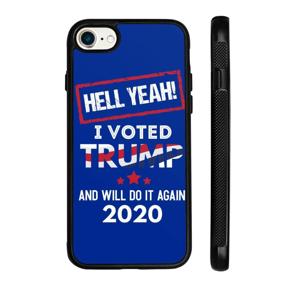 Hell Yeah I Voted For Trump Phone Cases - Royal / M / iPhone 8 Case