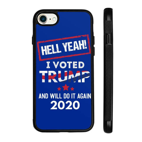 Image of Hell Yeah I Voted For Trump Phone Cases - Royal / M / iPhone 8 Case
