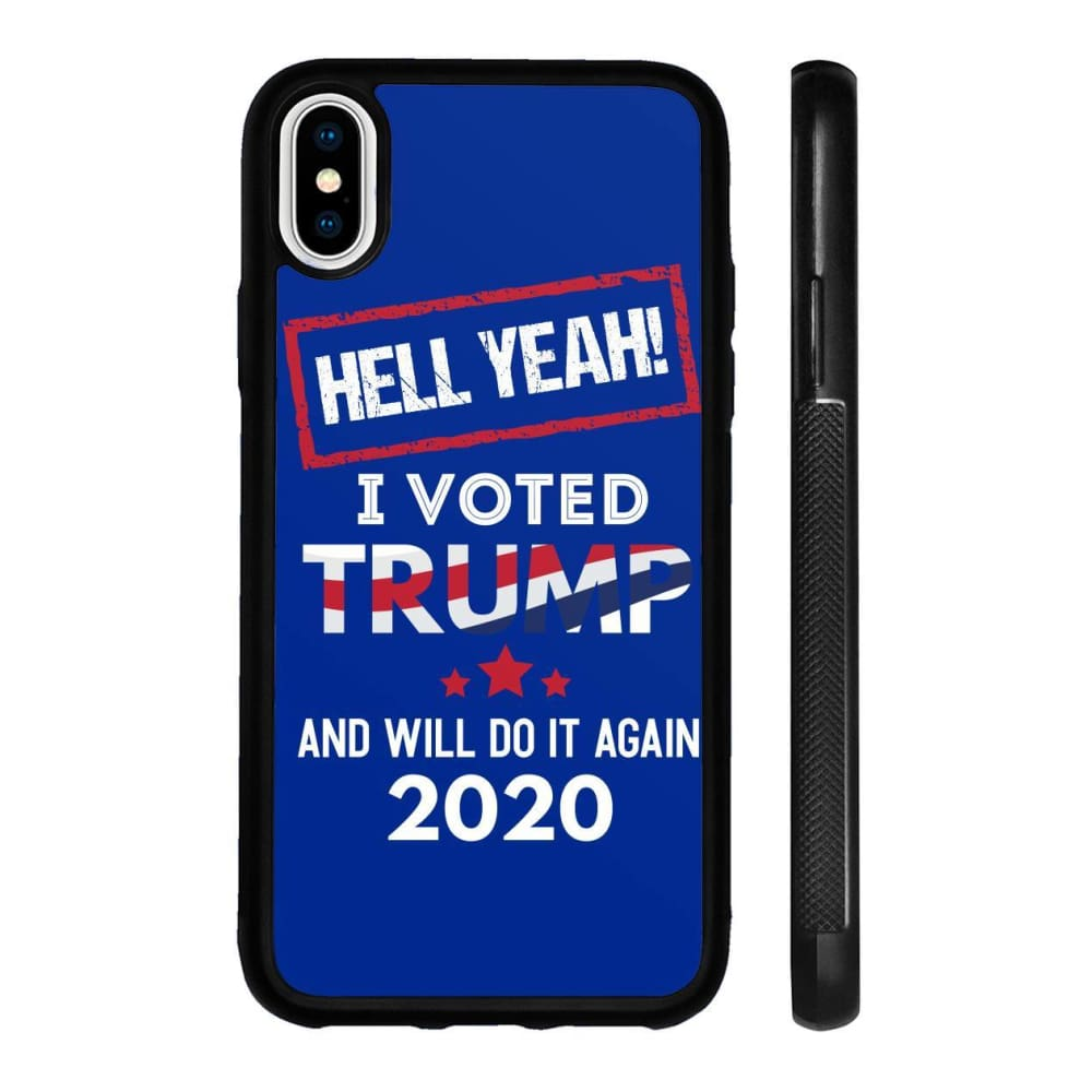 Hell Yeah I Voted For Trump Phone Cases - Royal / M / iPhone X Case