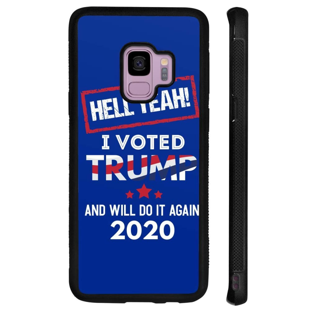 Hell Yeah I Voted For Trump Phone Cases - Royal / M / Samsung Galaxy S9