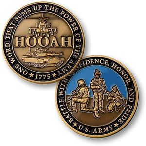 Hooah Army Challenge Coin - Coin