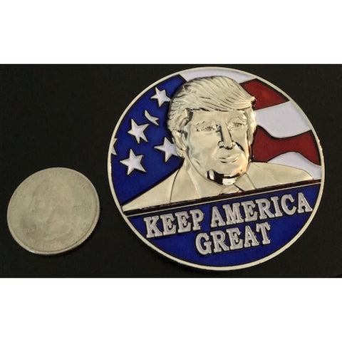 Image of HUGE Trump 2020 Keep America Great Challenge Coin -- Amazing Details!