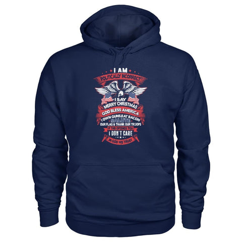 Image of I Am Politically Incorrect Hoodie - Navy / S - Hoodies