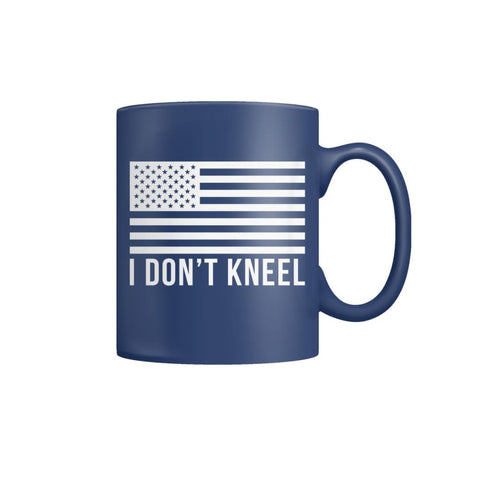 I Dont Kneel Coffee Mug - Blue / M