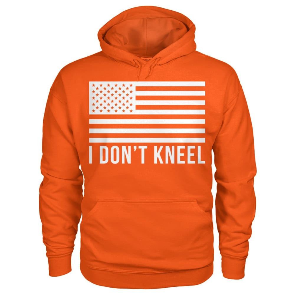 I Dont Kneel Hoodie - Orange / S